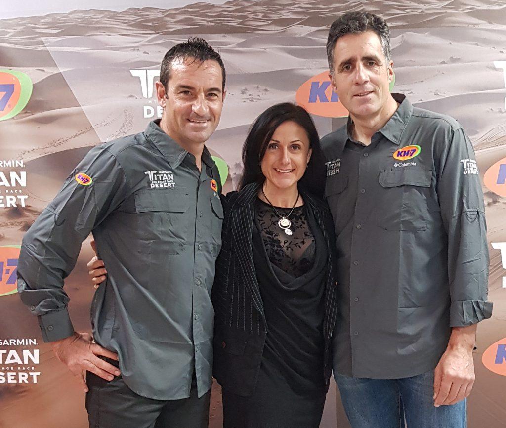 Foto con Melcior Mauri y Miguel Induráin